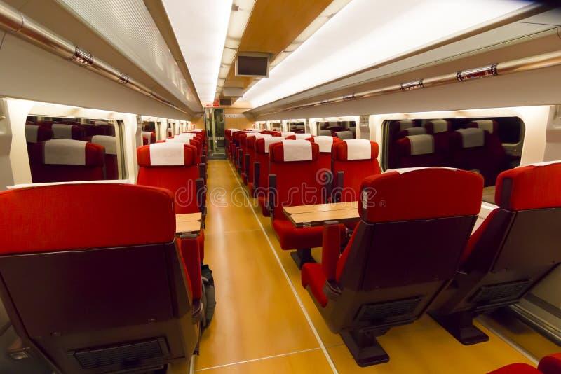 Intérieur d'un chariot de train photographie stock