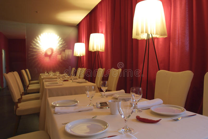 intérieur d'un restaurant photo stock