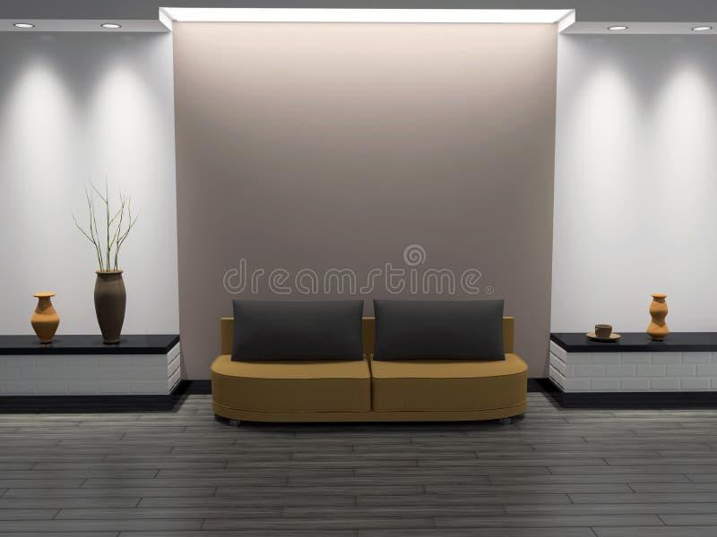 Intérieur d'une salle illustration libre de droits