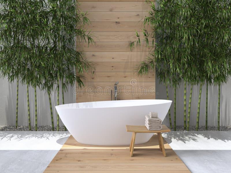 Intérieur d'une salle de bains rendu 3d photos libres de droits