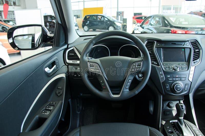 Intérieur d'une voiture. photographie stock