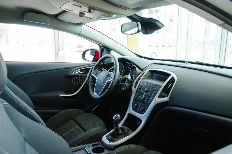 Intérieur d'une voiture. images stock