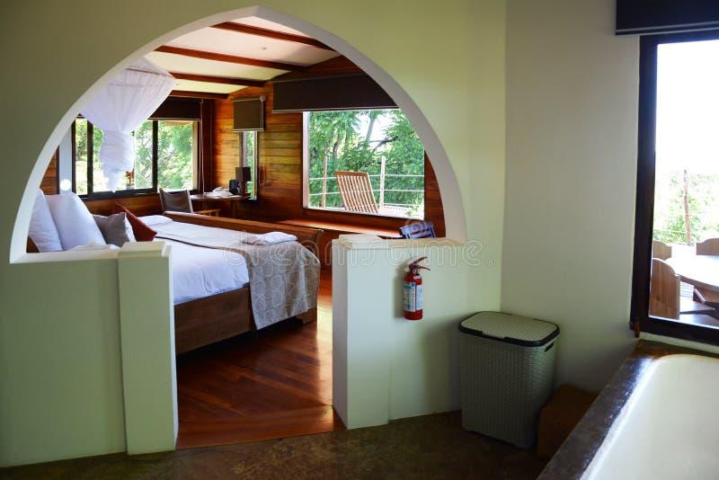 Intérieur d'unité familiale chez Galapagos Safari Camp photographie stock libre de droits