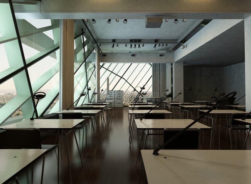 Intérieur d'université de conception moderne/salle de conférence illustration stock
