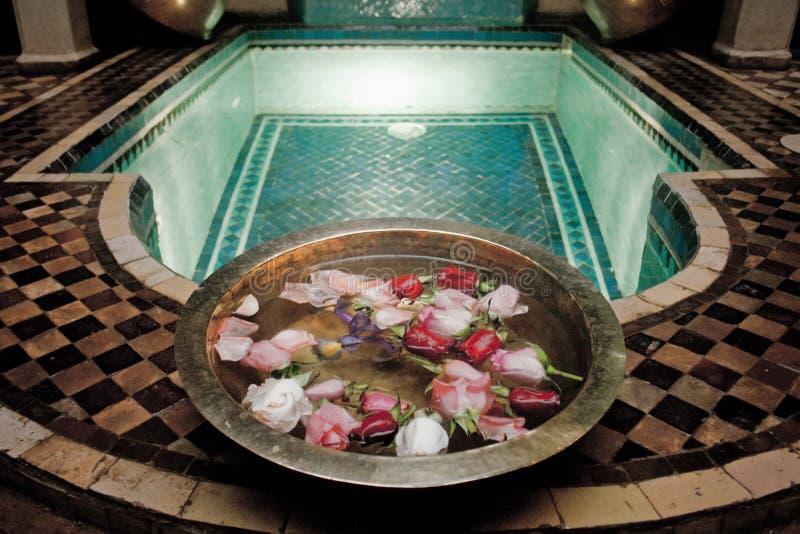 Intérieur dans un riad Marrakech, Maroc photo stock