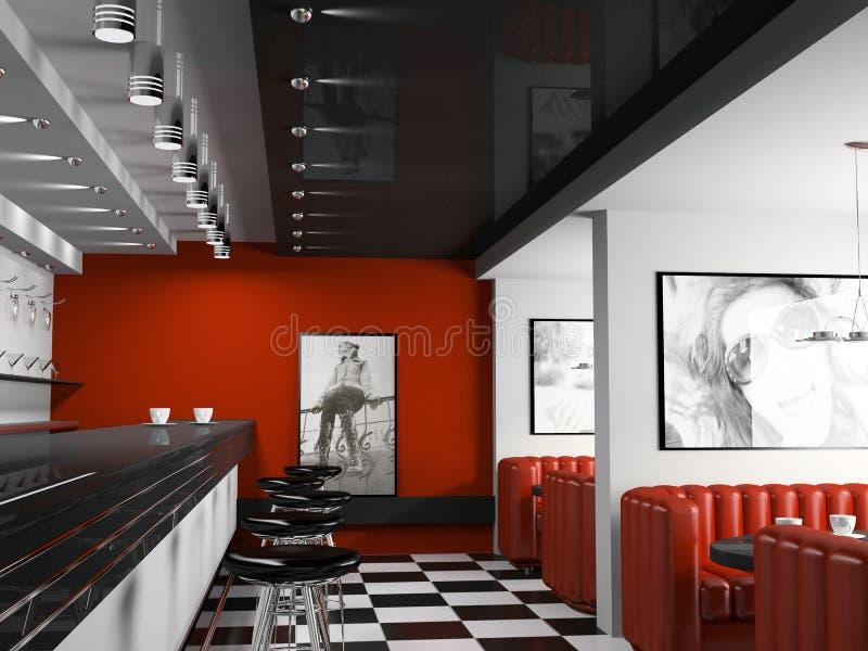 Intérieur de bar à la mode illustration de vecteur