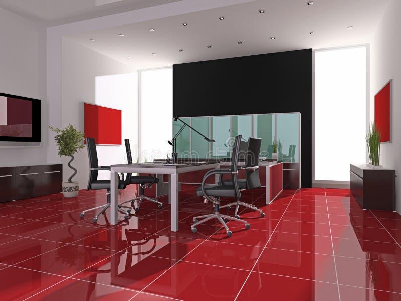 Intérieur de bureau illustration de vecteur