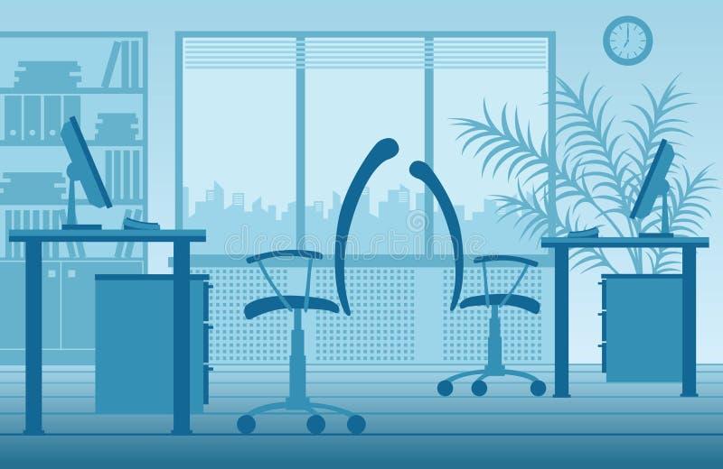 Intérieur de bureau de vecteur illustration stock