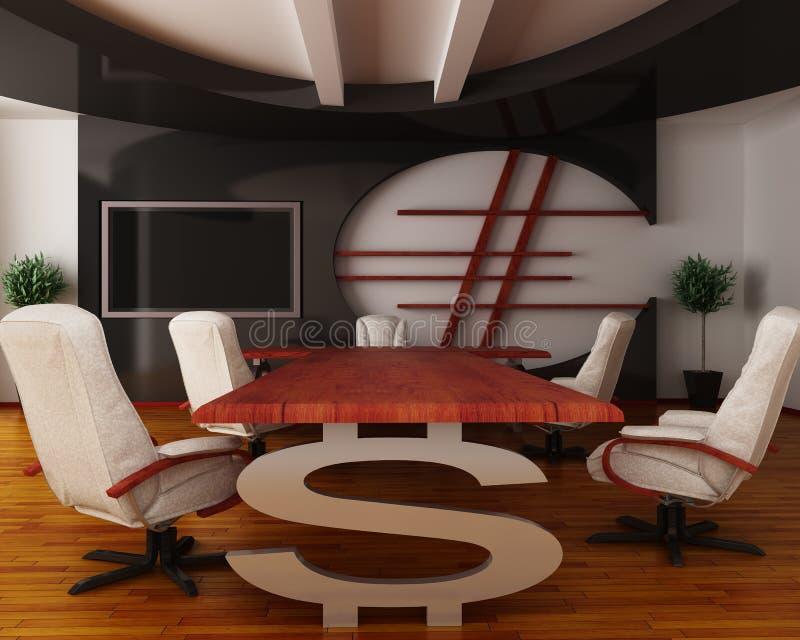 Intérieur de bureau fin illustration de vecteur
