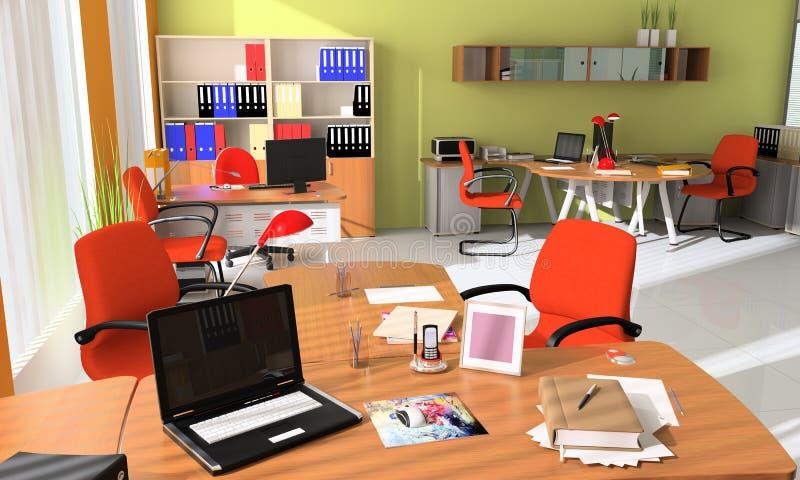 Intérieur de bureau moderne illustration libre de droits