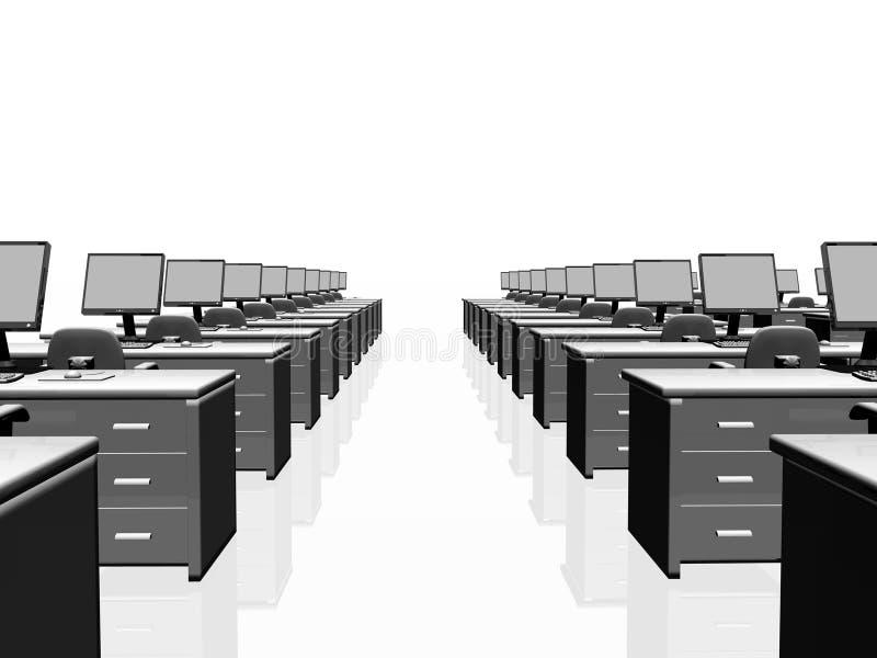 Intérieur de bureau, travail d'équipe. illustration de vecteur