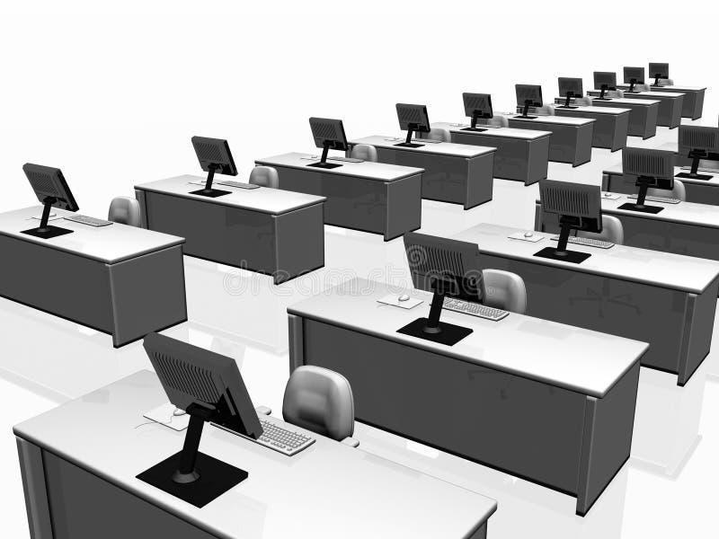 Intérieur de bureau, travail d'équipe. illustration libre de droits