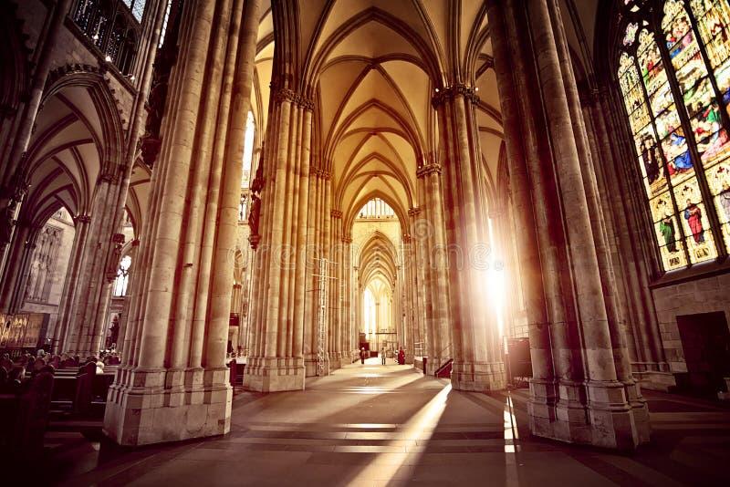 Intérieur de cathédrale image libre de droits