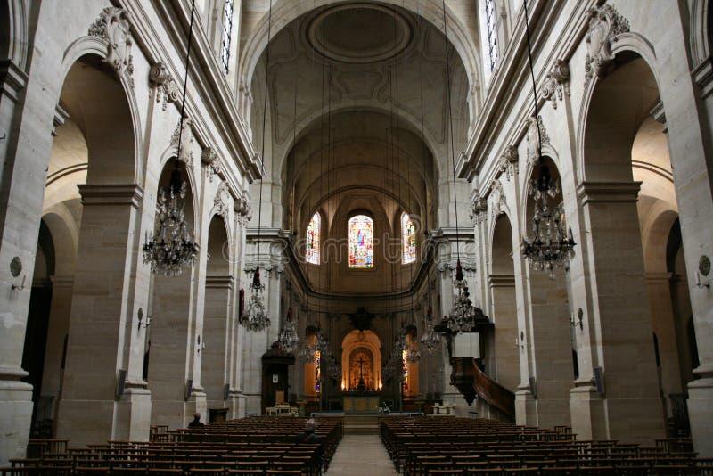 Intérieur de cathédrale image stock