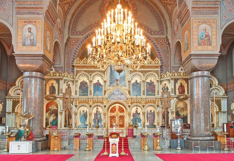 Intérieur de cathédrale d'Uspenski photos stock