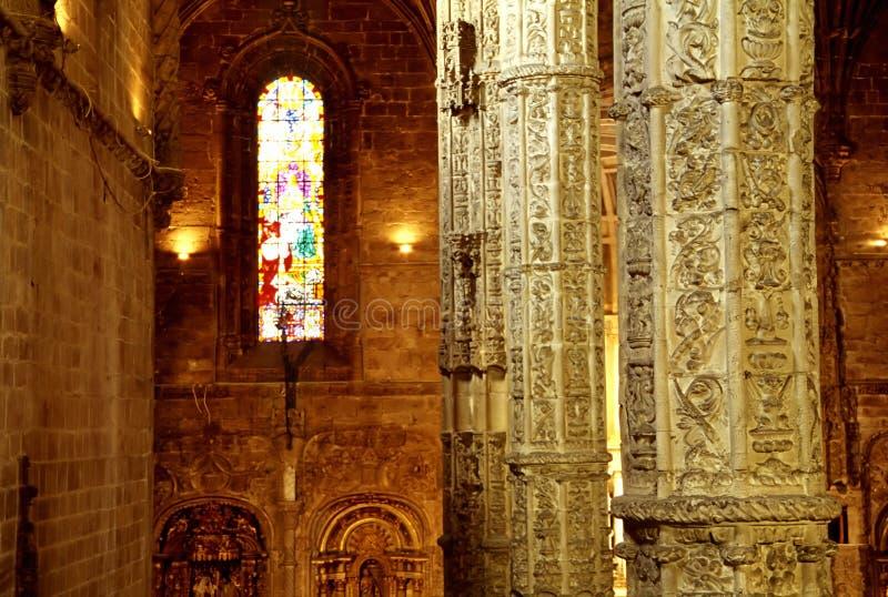 Intérieur de cathédrale, Lisbonne photo libre de droits