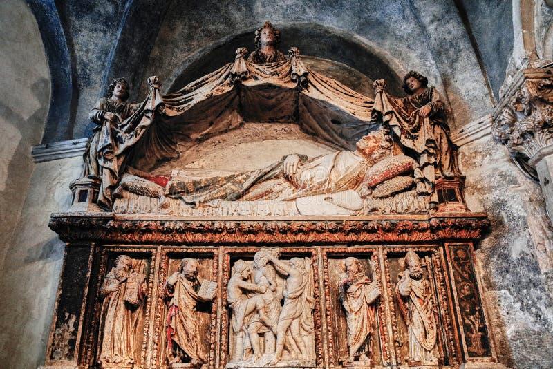 Intérieur de cathédrale de saint Domnius, FENTE, CROATIE photos stock