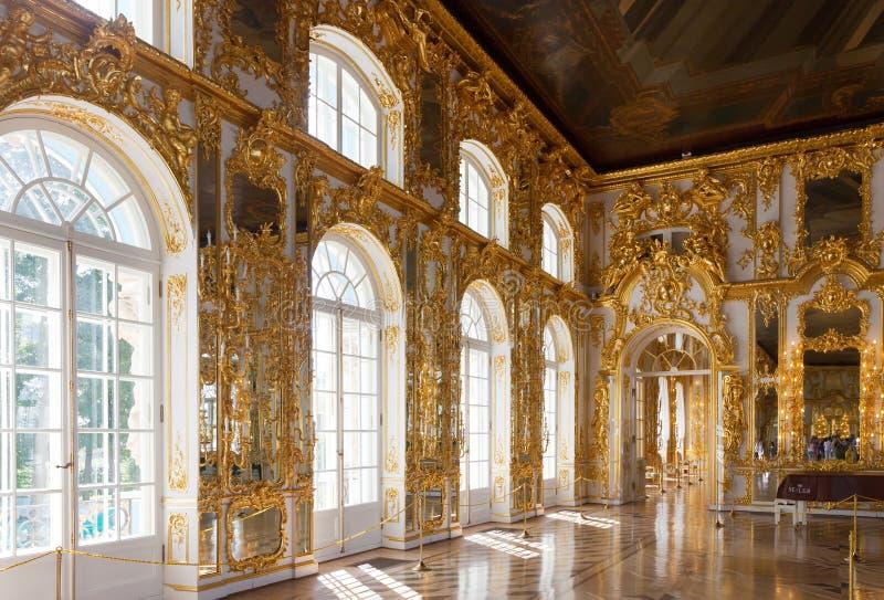 Intérieur de Catherine Palace image libre de droits