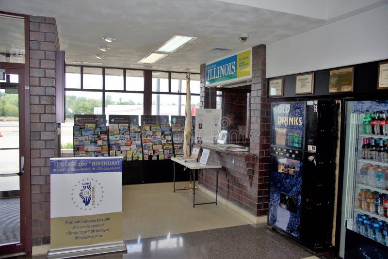Intérieur de centre d'accueil de l'Illinois photographie stock libre de droits