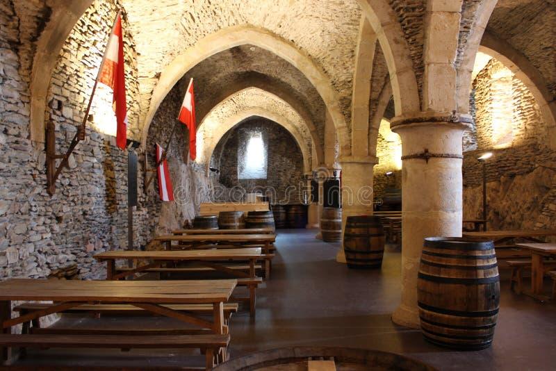 Intérieur de château de Vianden - brasserie, Luxembourg images stock
