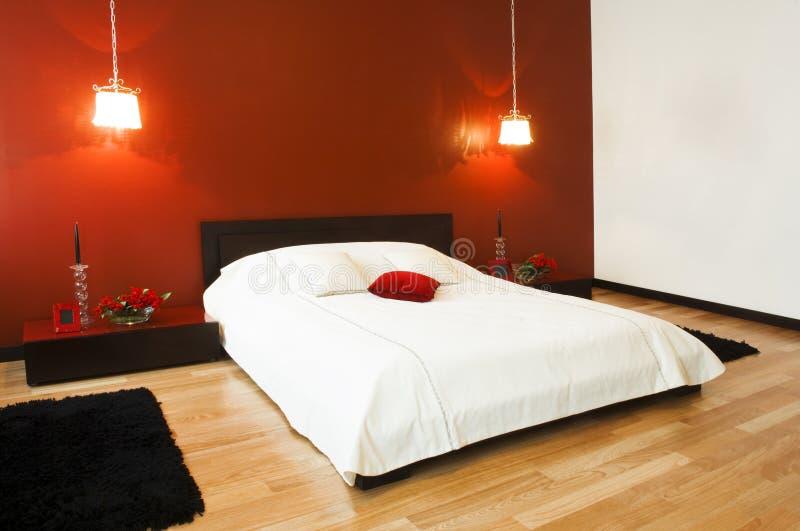 Intérieur de chambre à coucher photo libre de droits