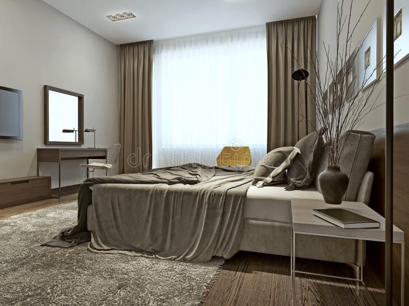 download intrieur de chambre coucher dans le style contemporain illustration stock image 42411187 - Chambre A Coucher Style Contemporain