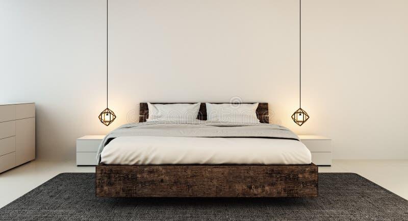 Intérieur de chambre à coucher pour la chambre à coucher moderne de maison et d'hôtel images stock