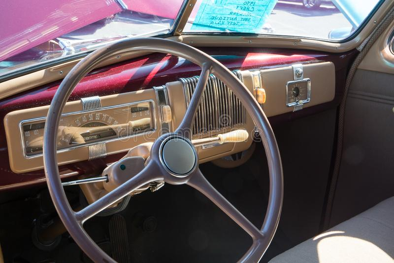 Intérieur 1940 de Chevrolet photos libres de droits