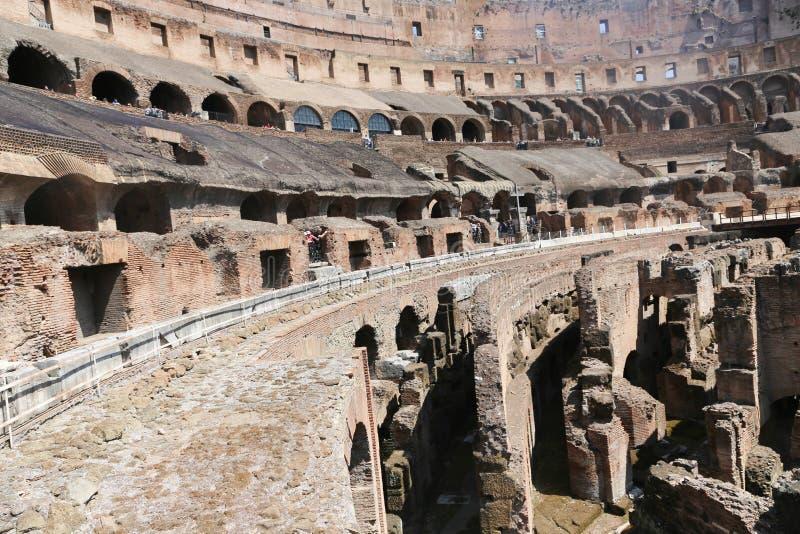 Intérieur de Colisé, Rome image stock