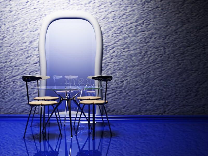 Intérieur de conception de salle à manger d'élégance illustration stock