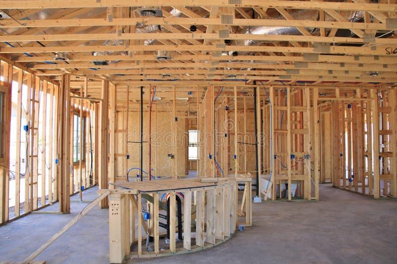 Intérieur de construction à la maison neuve photo libre de droits