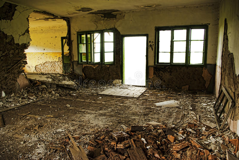 Intérieur de construction abandonné photographie stock libre de droits