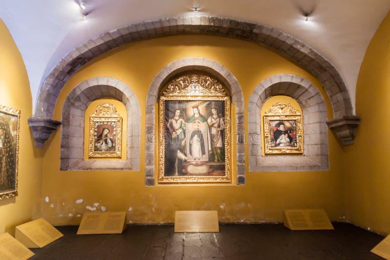 Intérieur de couvent Santo Domingo dans Cuzco photographie stock