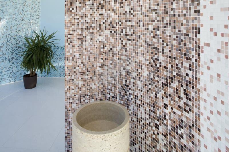 intérieur de créateur de salle de bains photos libres de droits