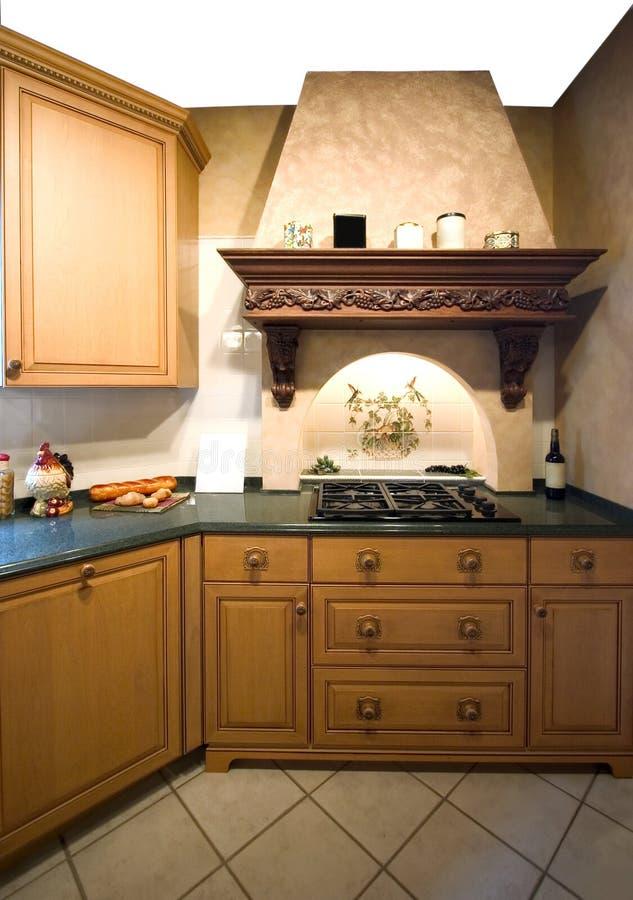 Intérieur de cuisine photo stock