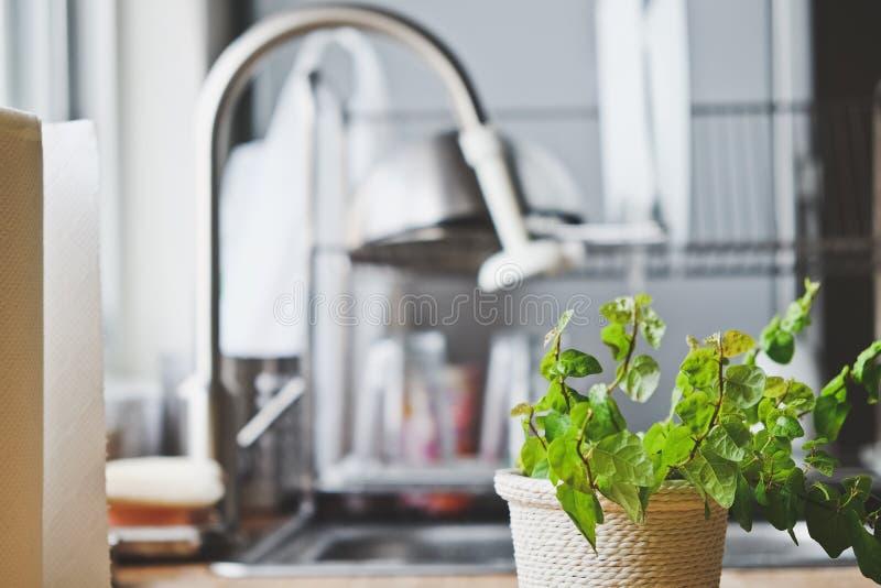 Intérieur de cuisine rurale photos stock