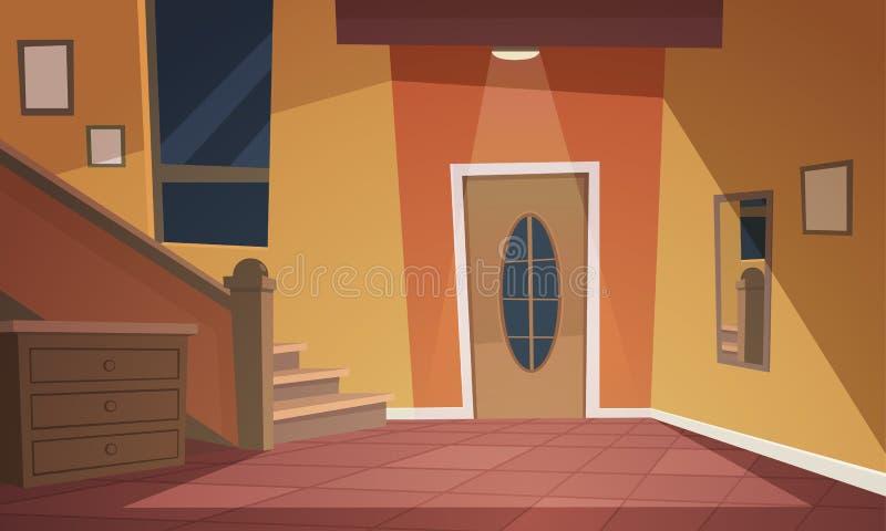 Intérieur de dessin animé illustration de vecteur