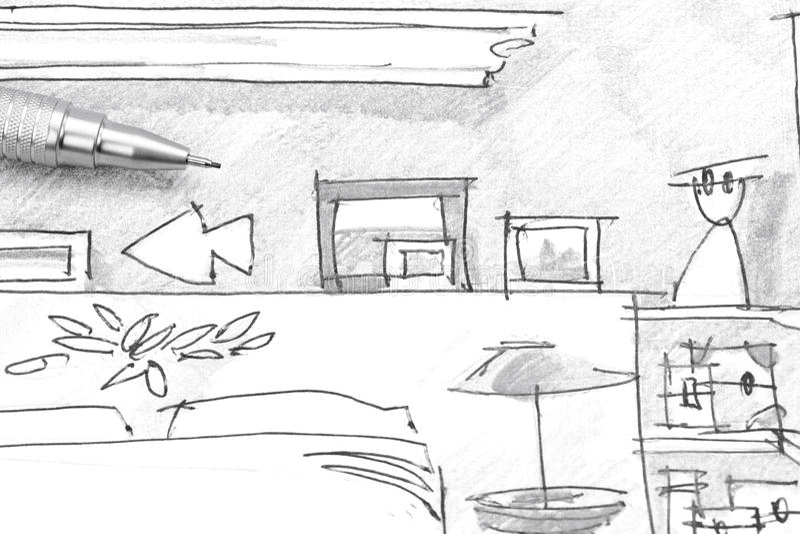 croquis chambre a coucher amazing dessin chambre en perspective dessin en perspective duune. Black Bedroom Furniture Sets. Home Design Ideas