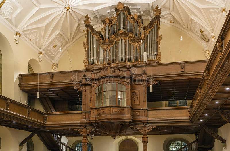 Intérieur de Dreieinigkeitskirche, Ratisbonne photos stock