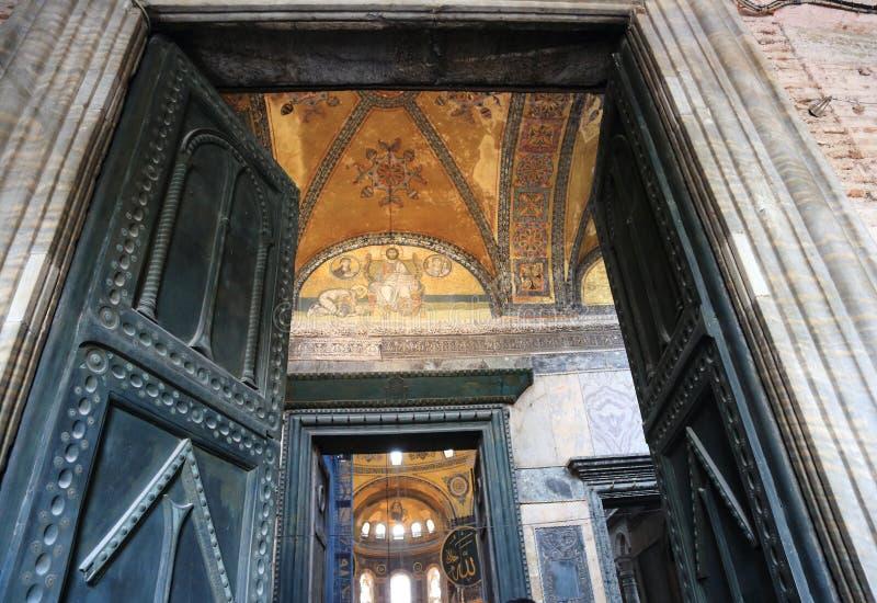 Intérieur de Hagia Sophia photos libres de droits