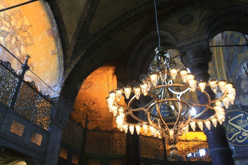 Intérieur de Hagia Sophia photo stock