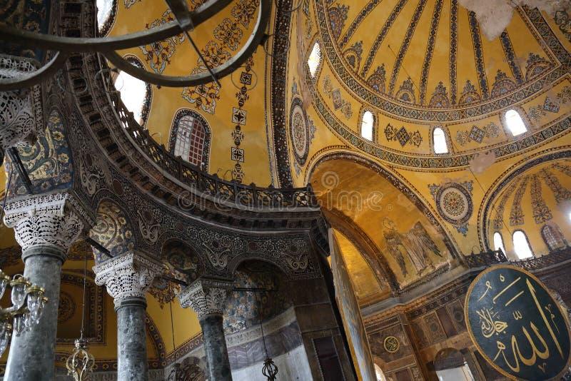 Intérieur de Hagia Sophia photographie stock libre de droits