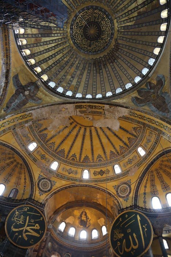 Intérieur de Hagia Sophia photographie stock
