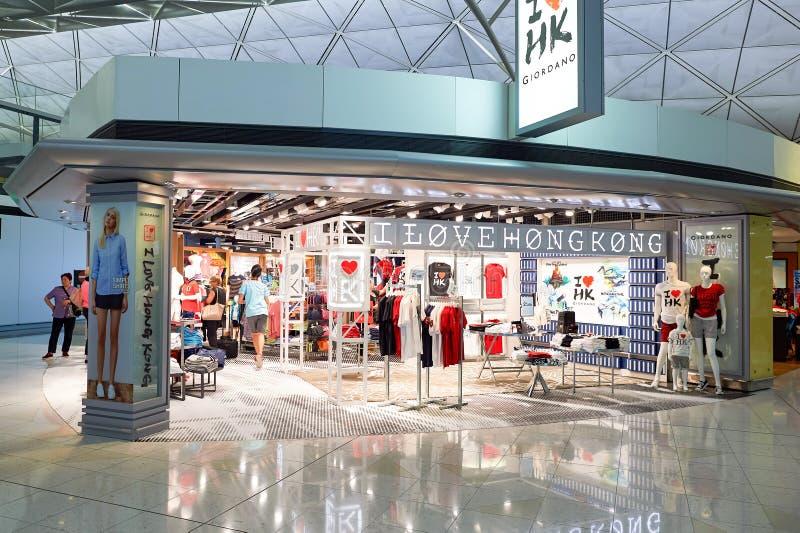 Intérieur de Hong Kong International Airport photo libre de droits