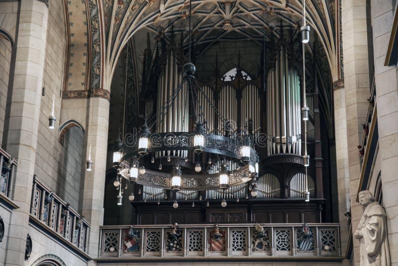 Intérieur de l'église de château dans la ville de Lutherstadt Vitenberg, Allemagne, 10/02/2017 photos stock