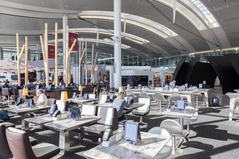 Intérieur de l'aéroport international de Toronto images libres de droits