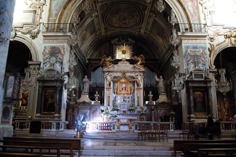Intérieur de la basilique Santa Maria, Rome, Italie photos stock