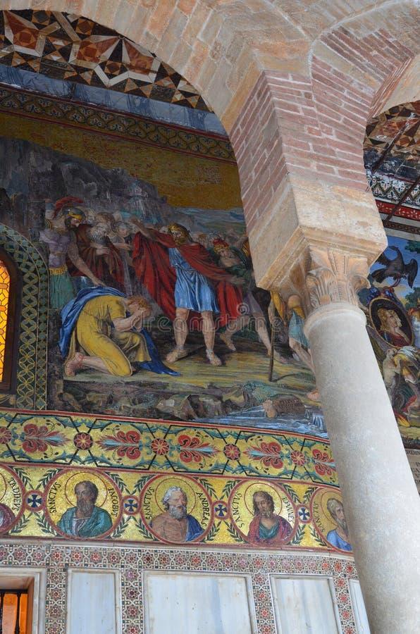 Intérieur de la Capella Palatina dans le dei de Palazzo Normanni Norman Palace - Palerme - Sicile - Italie photo stock