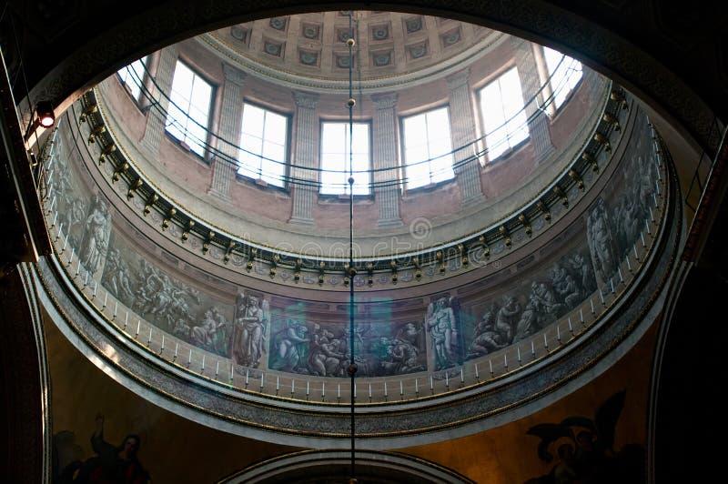 Intérieur de la cathédrale de Kazan photos libres de droits