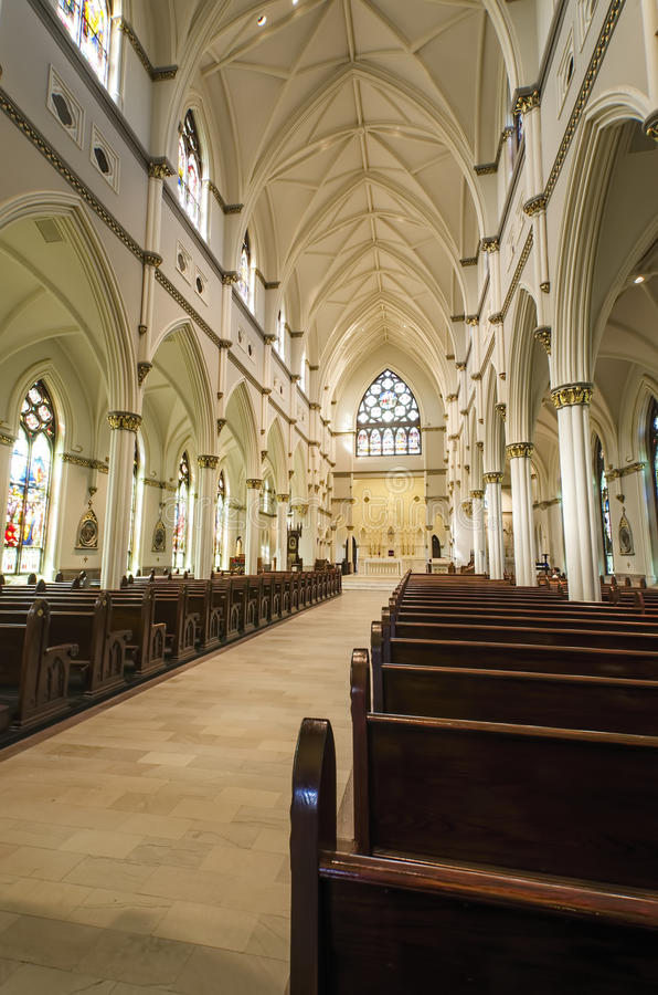 Cathédrale de St John le baptiste, Charleston, Sc photo libre de droits